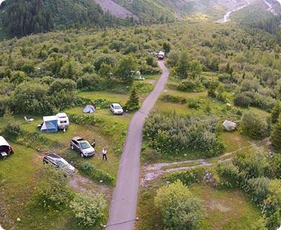 Camping Glaciers La Fouly